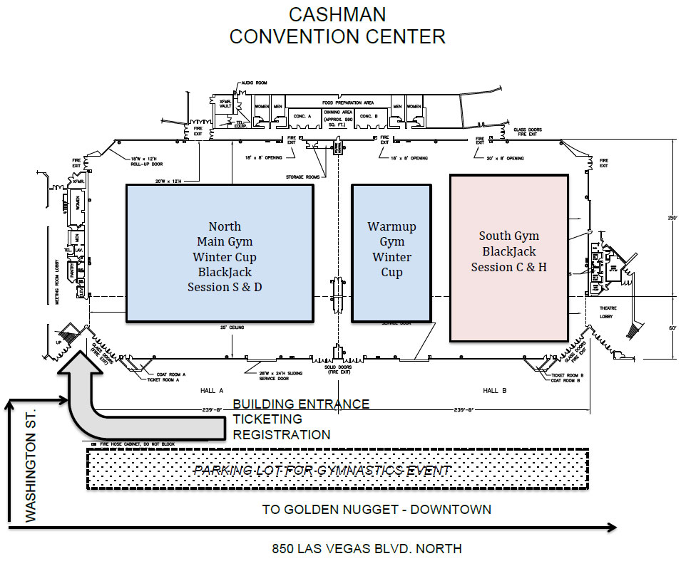 Map Of The BlackJack Meet Area